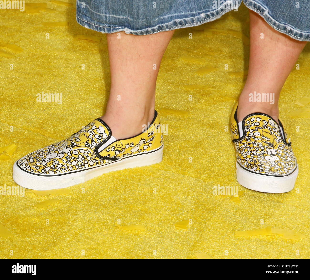 Kevin Smith S Vans With Bart Simpson On It The Simpsons Movie World Stock Photo Alamy
