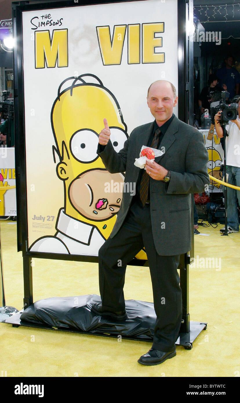 Dan Castellaneta Voice Of Homer Simpson The Simpsons Movie Stock Photo Alamy