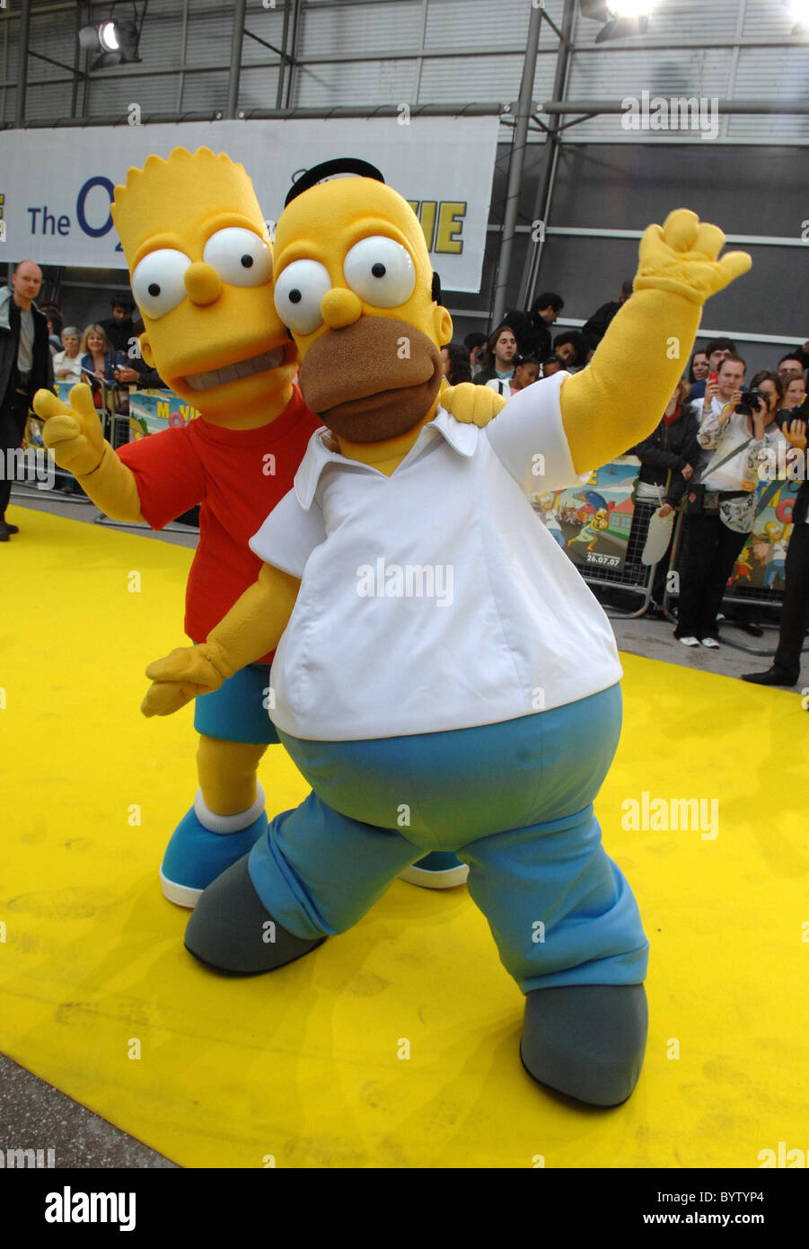 Bart Simpson And Homer Simpson The Simpsons Movie Uk Premiere At Stock Photo Alamy