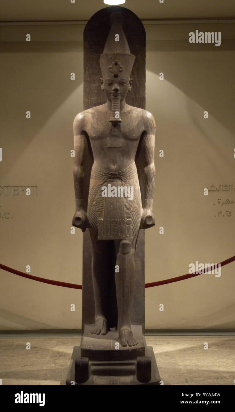 Egyptian Art. Pharaoh Amenhotep III (Amenophis or Akhenathon). Egypt. - Stock Image