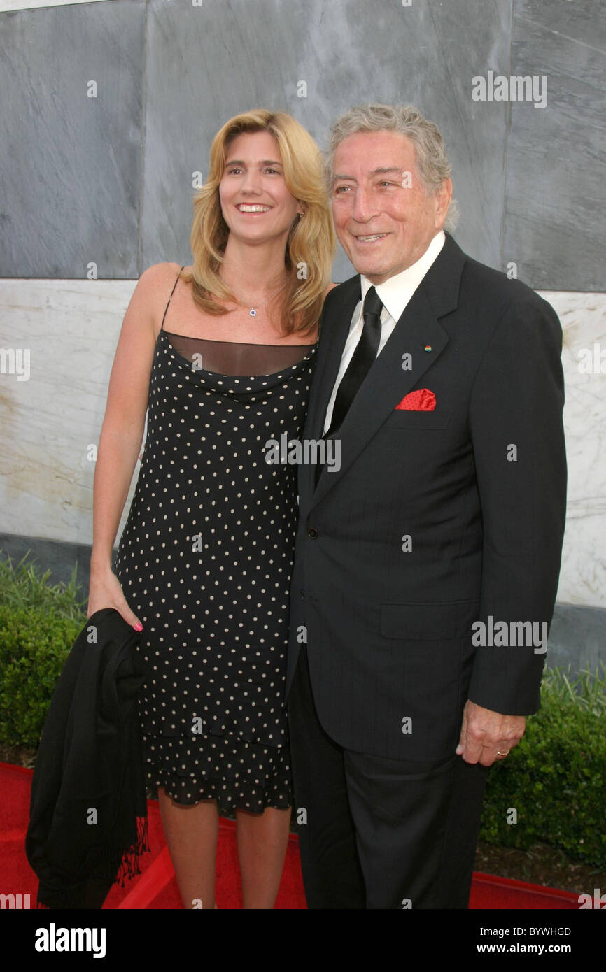 Tony Bennett and wife Susan Crow 2007 Los Angeles Film Festival - 2007 Spirit Of Independence award ceremony held - Stock Image