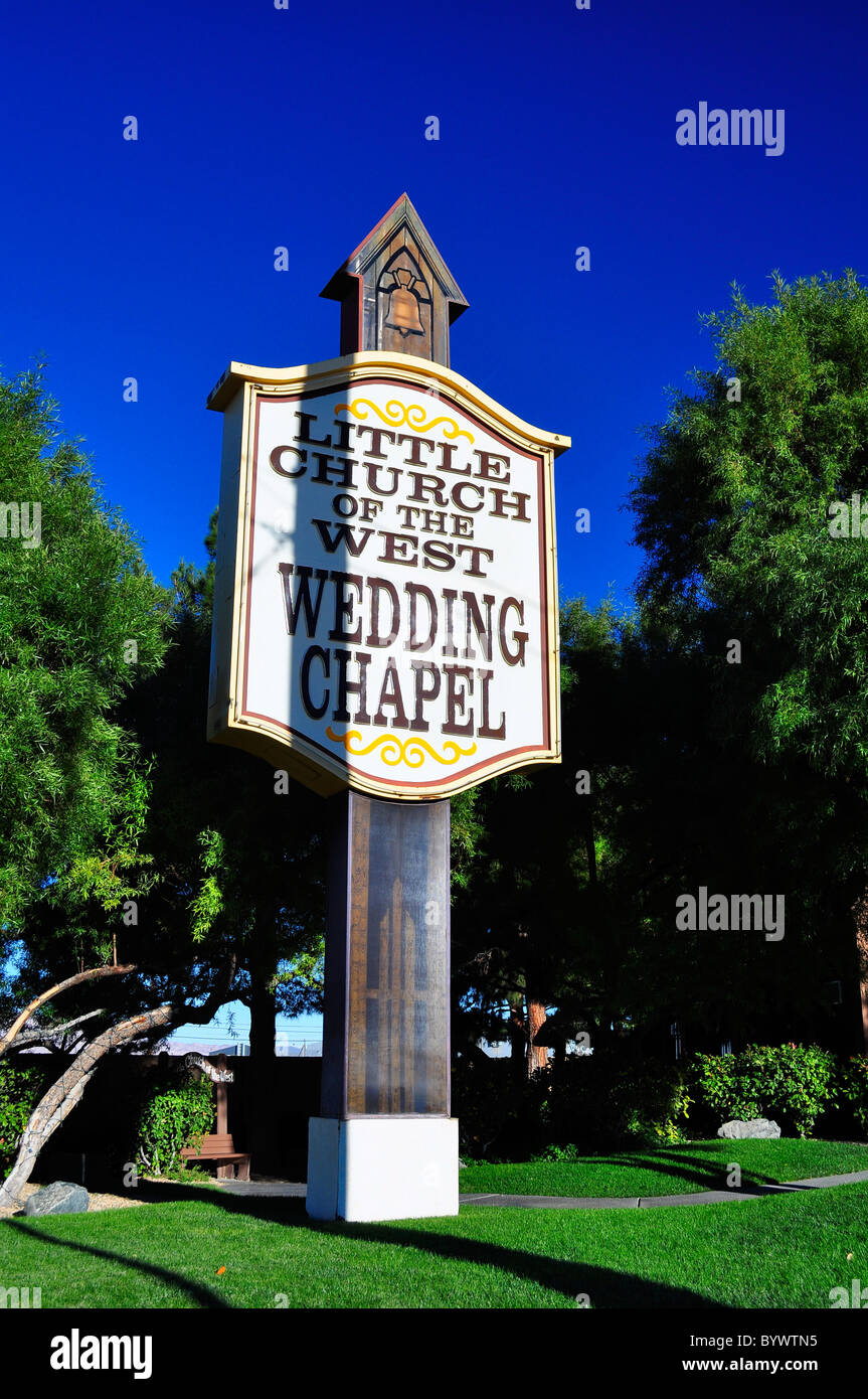 The Little Church of the West, Wedding Chapel - Stock Image