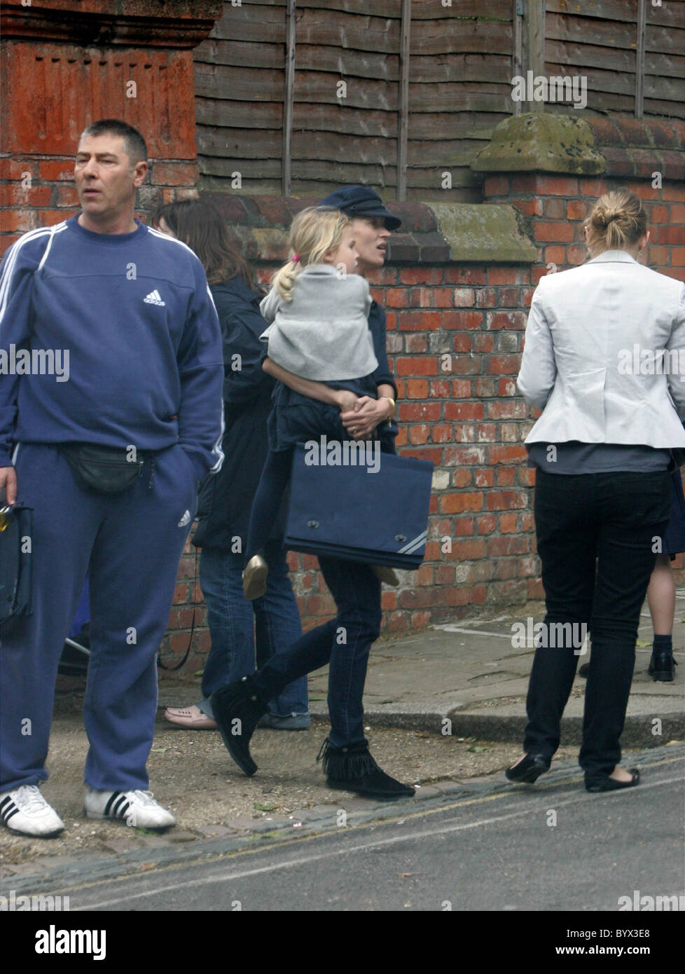 Kate Moss collects her daughter Lila Grace from school London, England - 26.06.07 - Stock Image