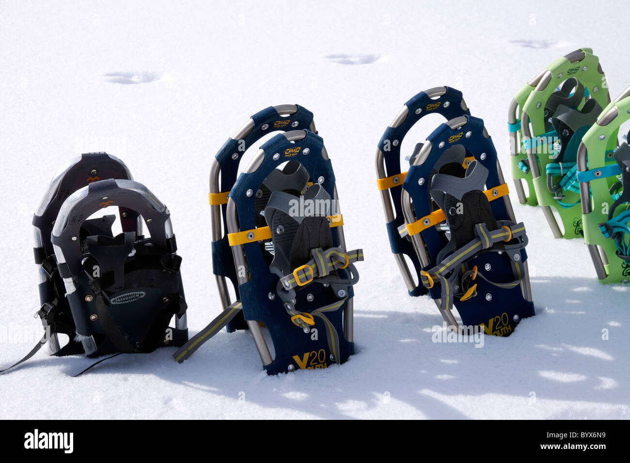 Snowshoes Michigan USA - Stock Image