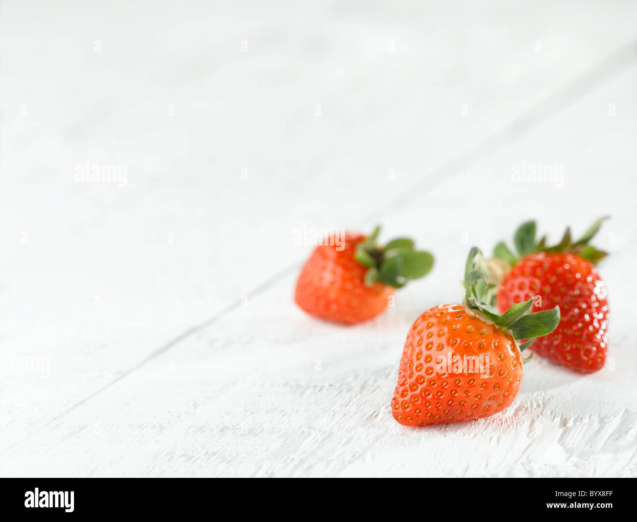 strawberries - Stock Image