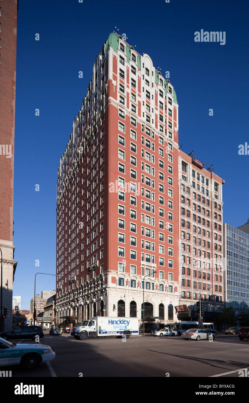 Renaissance Blackstone Hotel (formerly Blackstone Hotel), Chicago, Illinois, USA - Stock Image