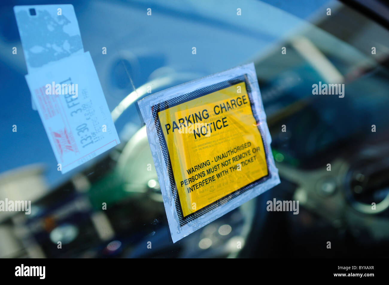 Parking Ticket Charge Notice. - Stock Image