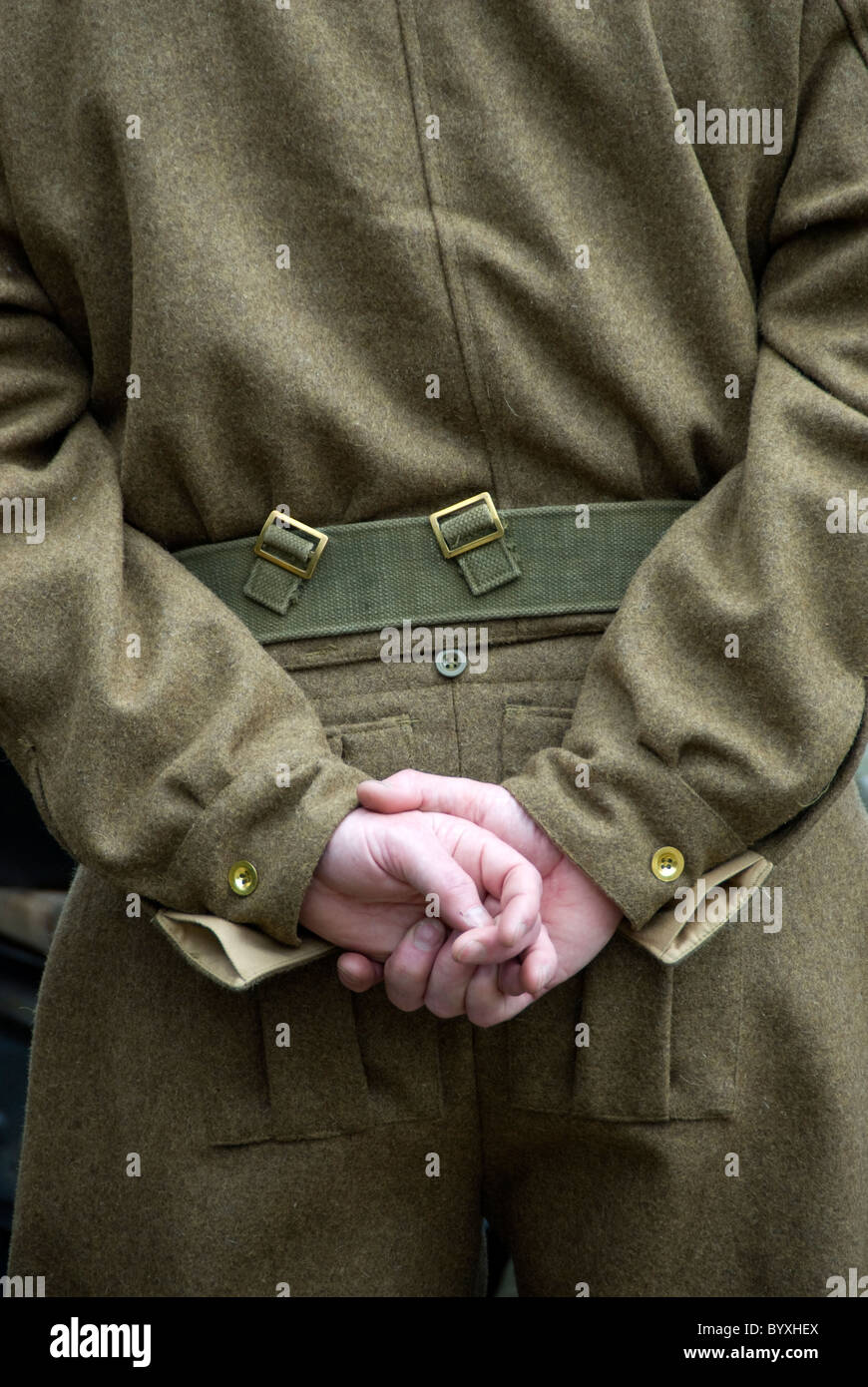 British soldier at ease - Stock Image