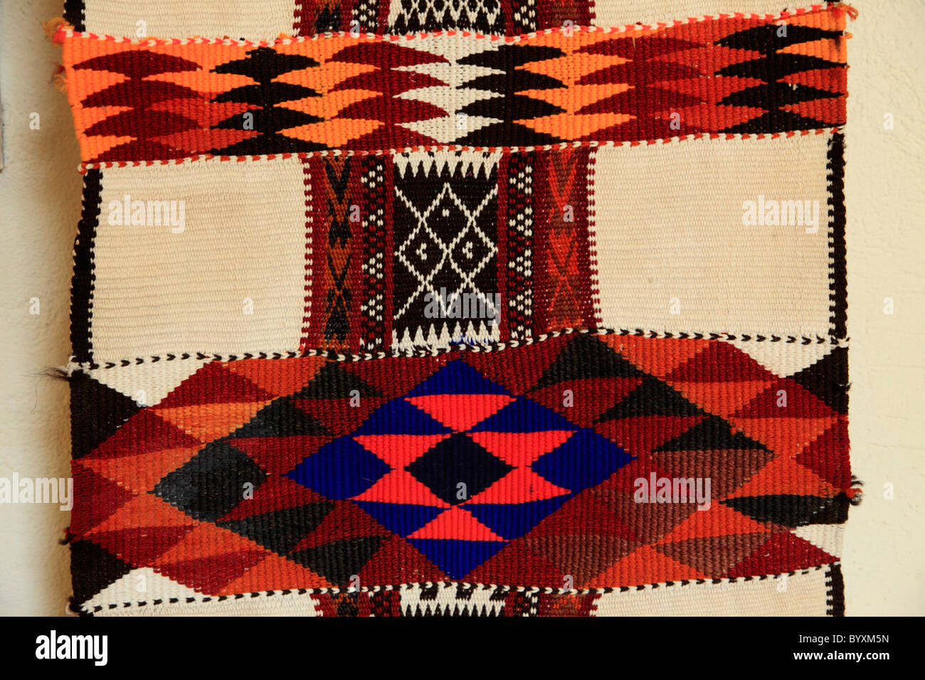 Kuwait, Kuwait City, Sadu House, Beduin carpet, - Stock Image