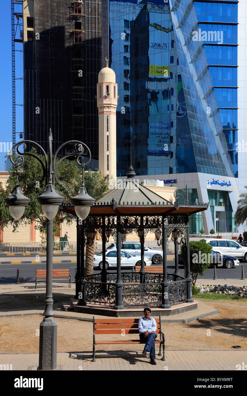 Kuwait, Kuwait City, downtown street scene, - Stock Image