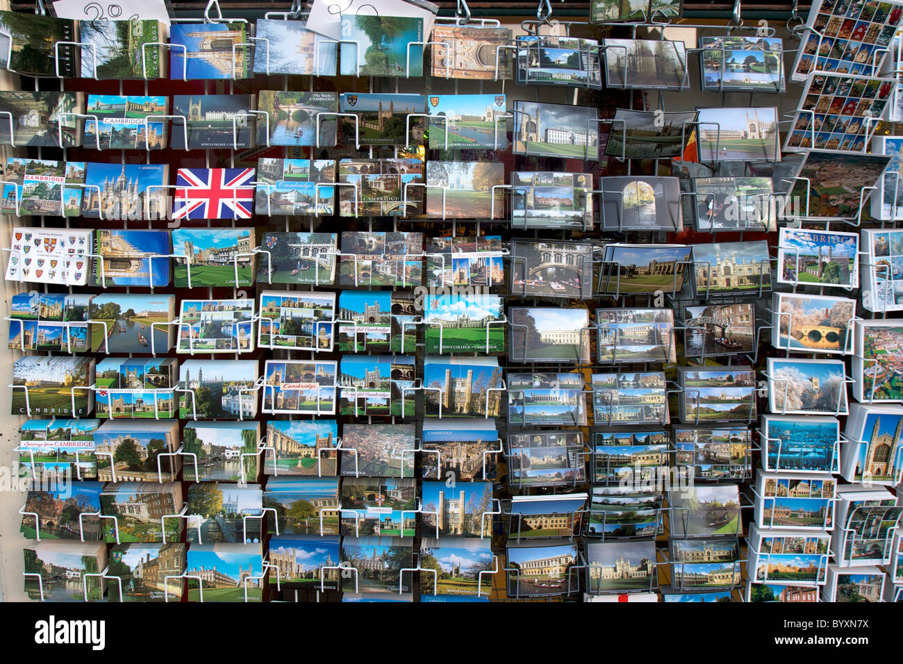 Postcards for sale in Cambridge - Stock Image