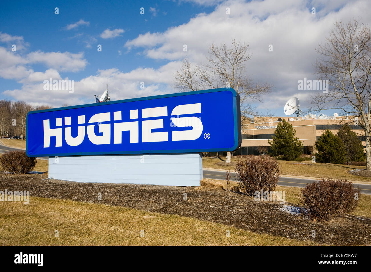 Hughes Network Systems corporate headquarters.  - Stock Image