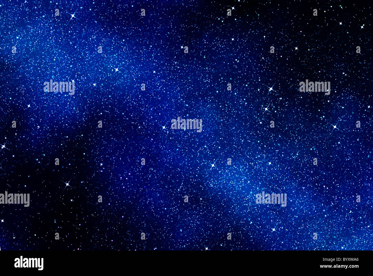 great image of space or a starry night sky  Stock Photo
