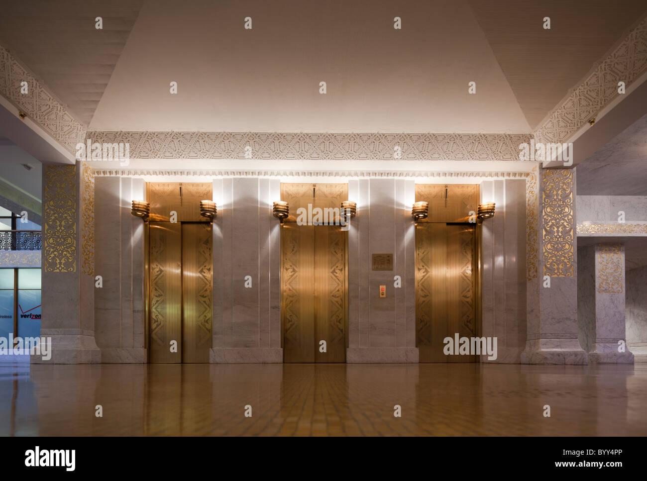 interior of the Rookery, 209 South LaSalle Street, Chicago, Illinois, USA Stock Photo