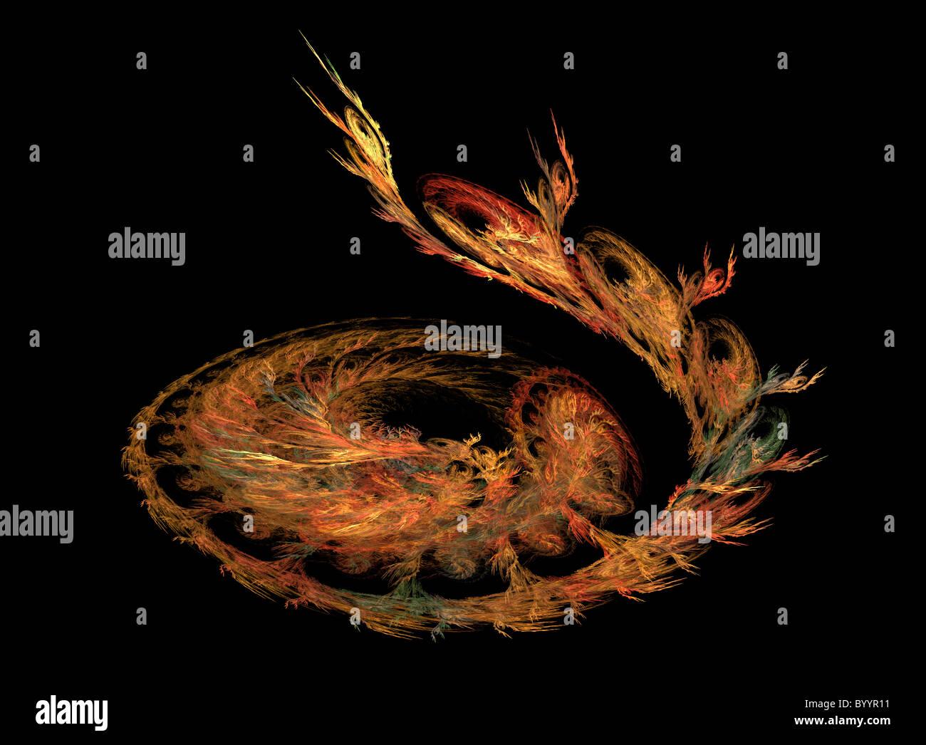 A Fractal Image Entitled A Serpents Vine Stock Photo