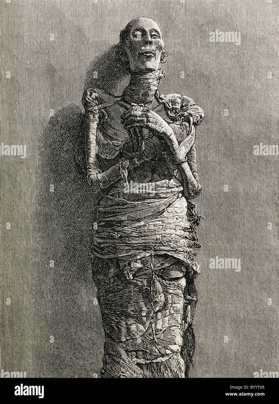 The Mummy of Ramesses II, reigned 1279 BC to 1213 BC aka Ramesses the Great. - Stock Image
