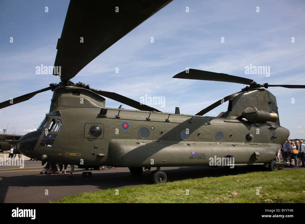 Static display of Chinook helicopter - Stock Image