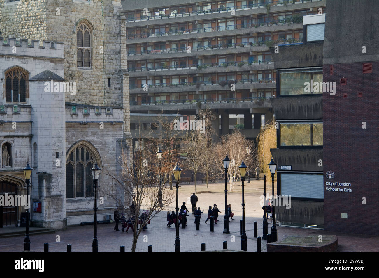 City Of London School For Girls And St Giles Church From The Stock Photo Alamy