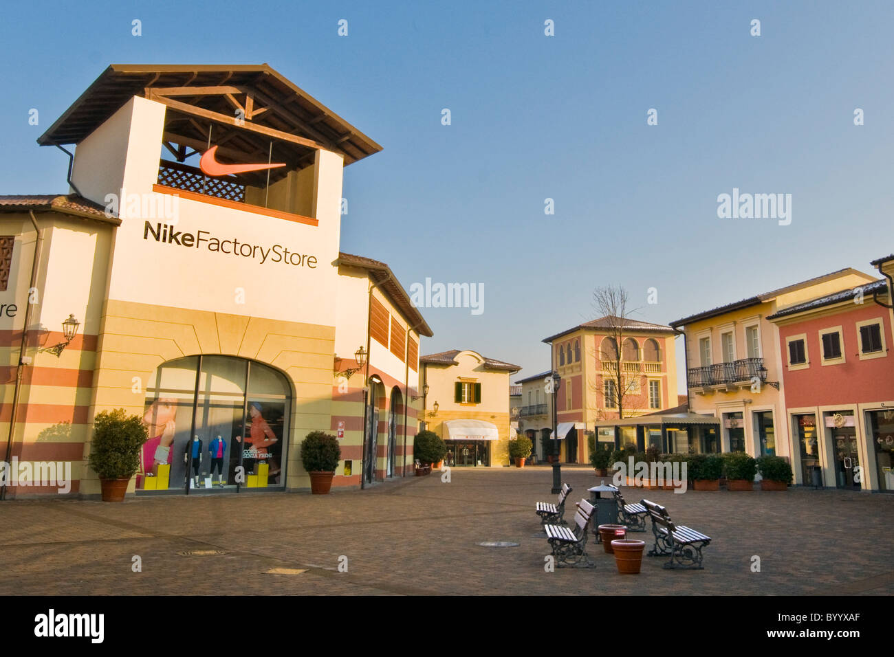 nike factory store designer outlet serravalle scrivia alessandria stock photo 34419463 alamy. Black Bedroom Furniture Sets. Home Design Ideas