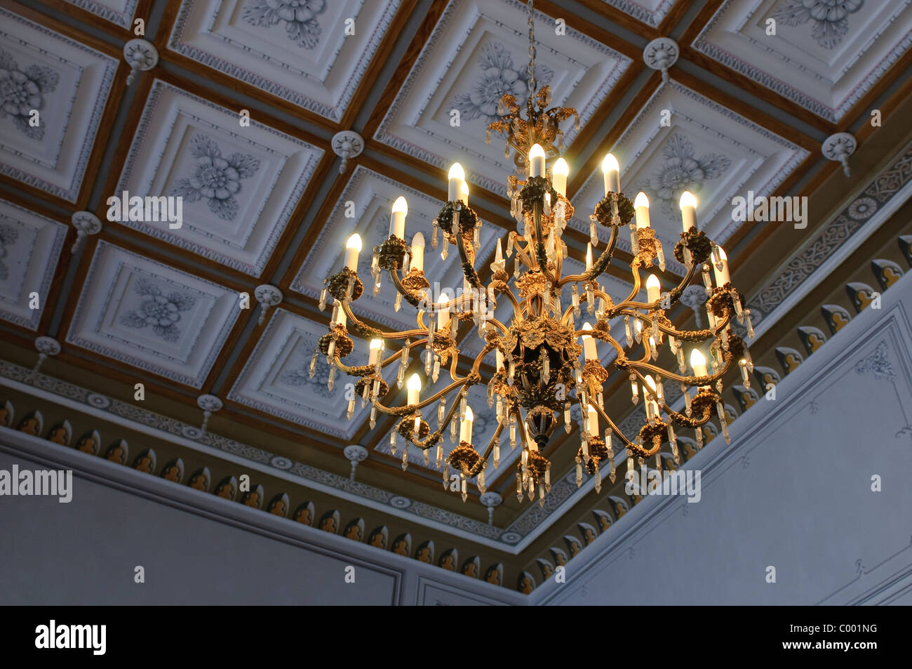 old chandelier - Stock Image