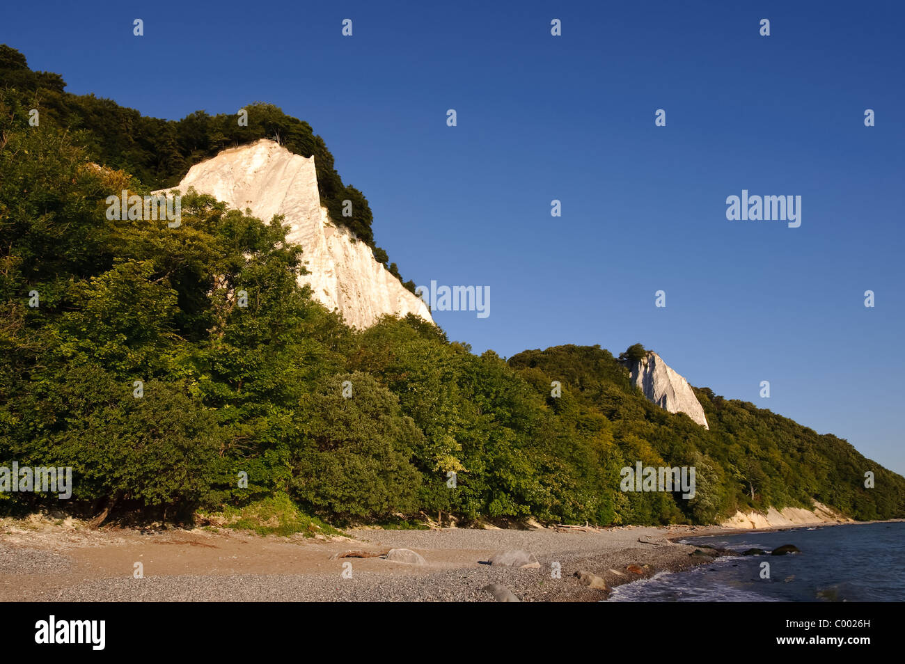 The famous chalk-cliffs at Ruegen Island, Baltic Sea Germany, Europe - Stock Image