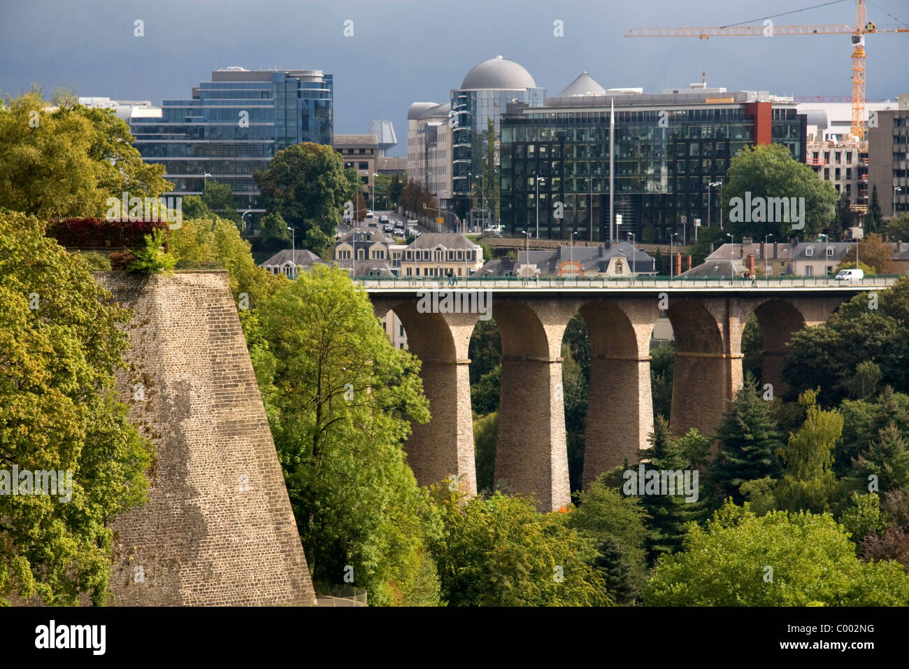 The passerelle viaduct in luxembourg city luxembourg stock photo the passerelle viaduct in luxembourg city luxembourg thecheapjerseys Images