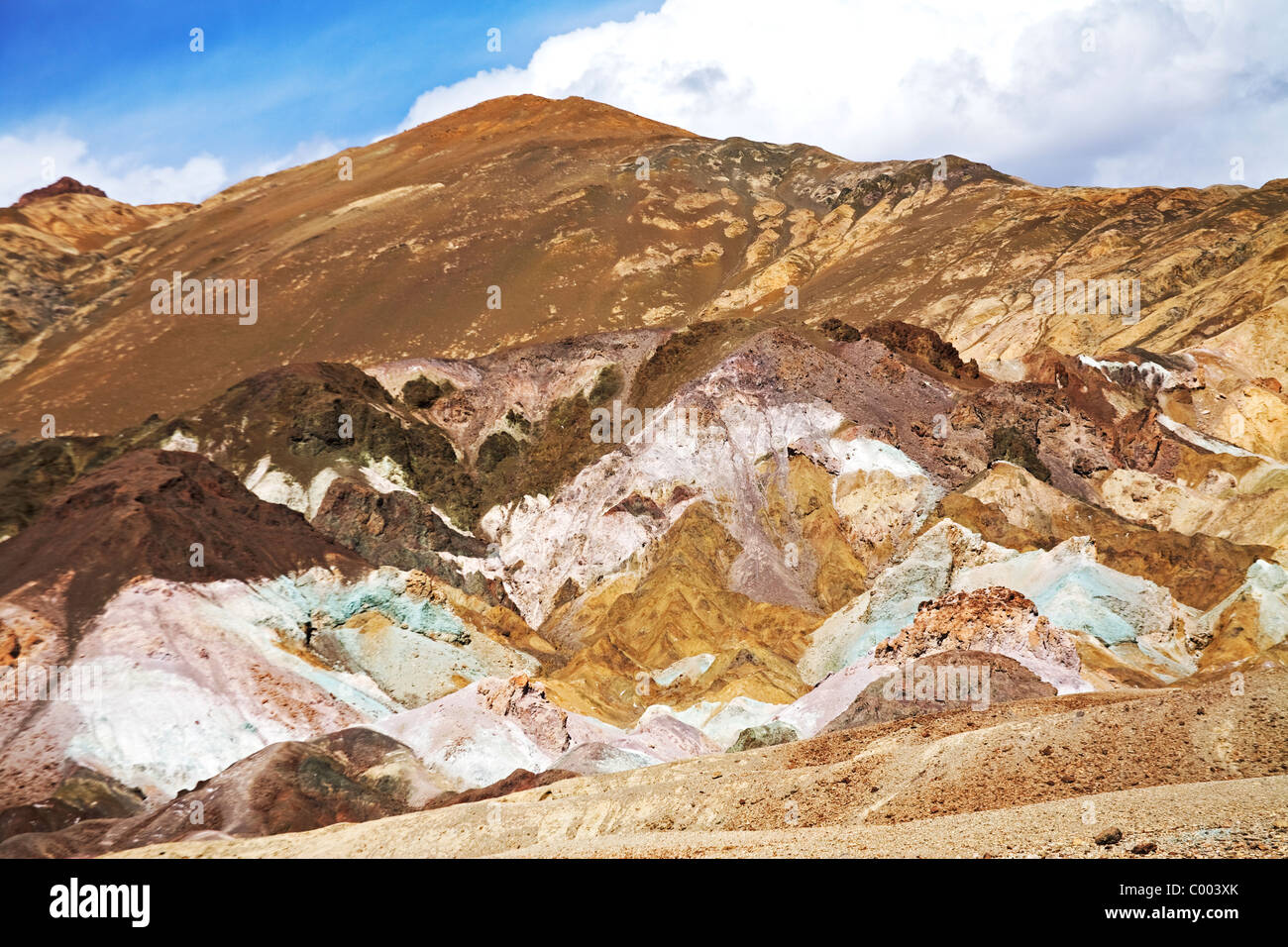 Painted Rocks, Death Valley national Park, California, USA - Stock Image