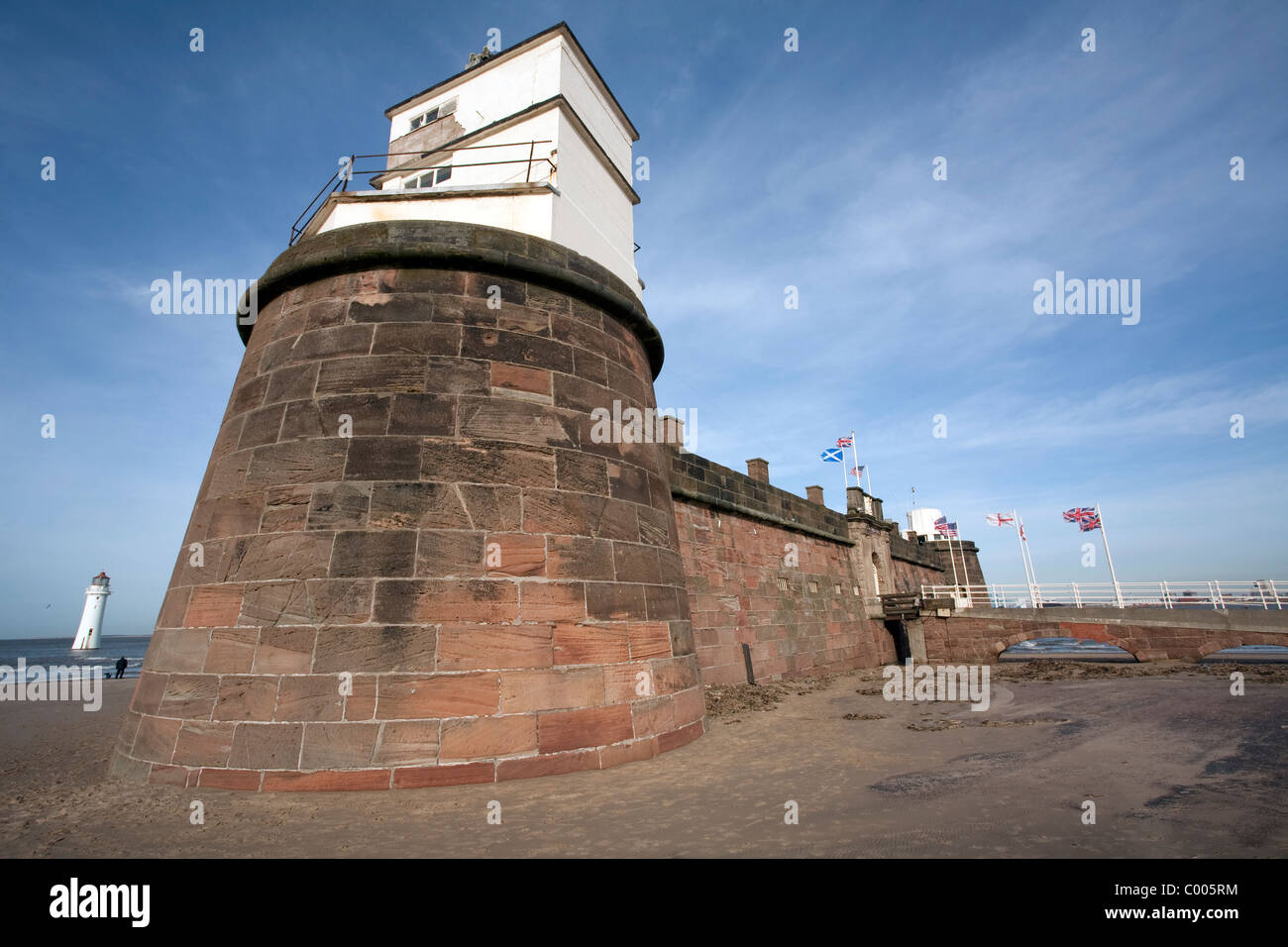 Fort Perch Rock, New Brighton, Wirral, NW UK - Stock Image