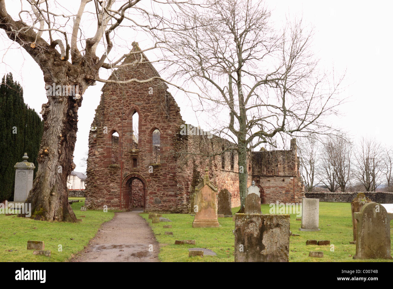 Remains of Beauly Priory - Stock Image