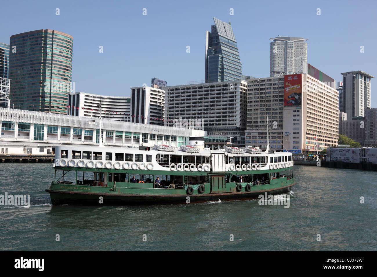 Celestial Star ferry ship in Hong Kong - Stock Image