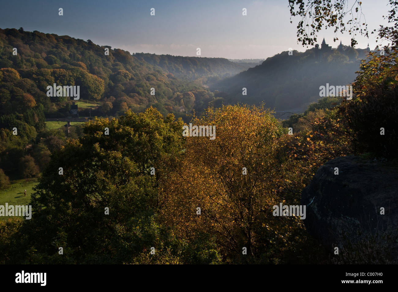 Autumn in the Churnet Valley - Stock Image