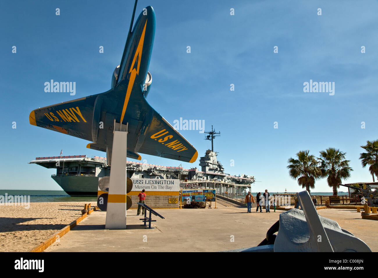 USS Lexington, WW2 Aircraft Carrier, Texas - Stock Image