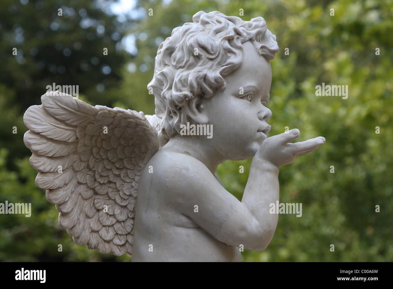 Engel, Skulptur, Schutzengel, Sculpture, Angel, Guardian Angel - Stock Image
