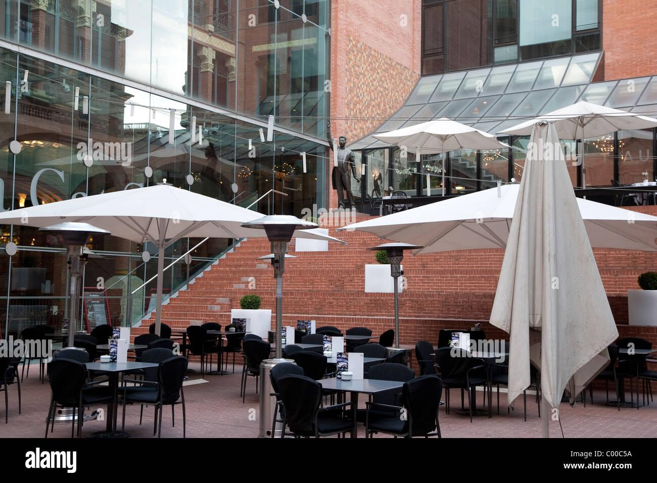 Cafe Terrace Of The Palau De La Musica Catalana Barcelona