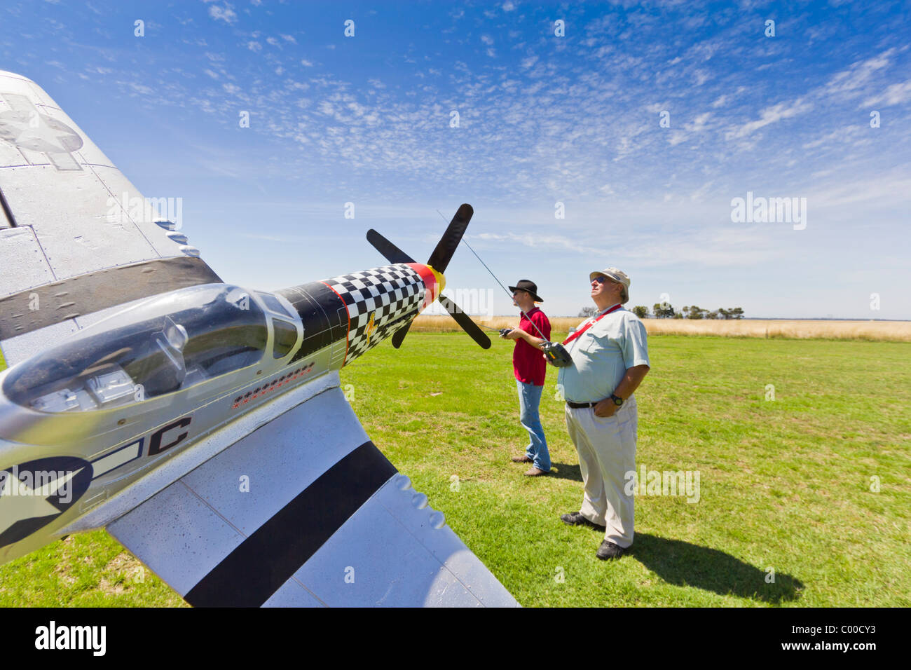 R/C Aircraft Flying in Australia Stock Photo