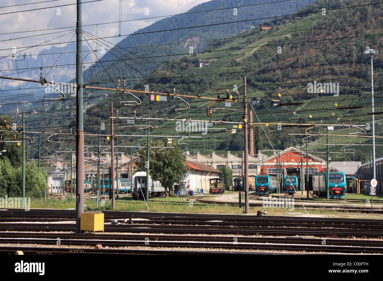 Train station Bozen / Bolzano, Italy - Stock Image