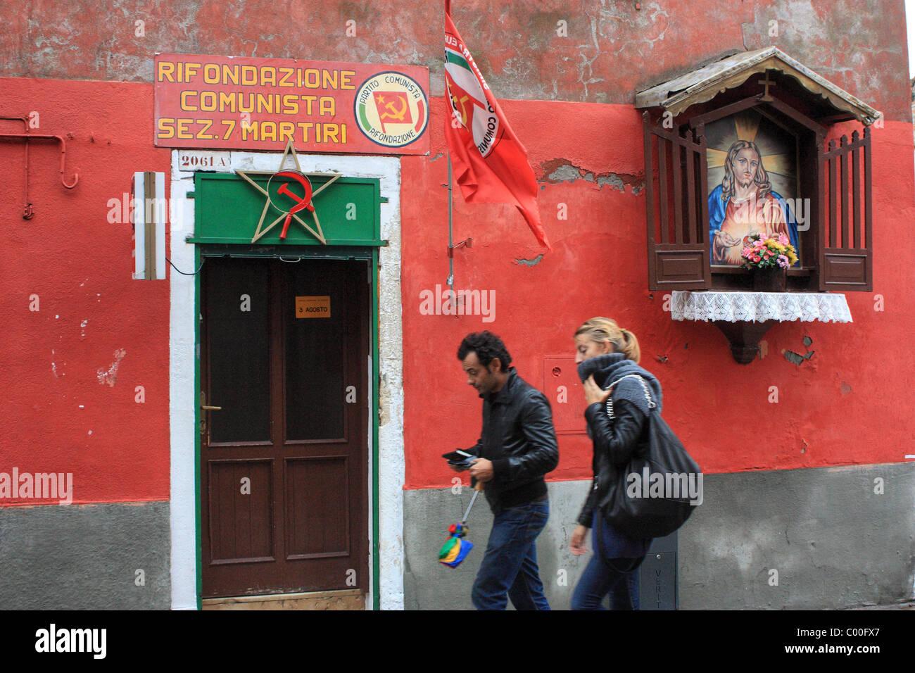 Office of the Communist Refoundation Party (Partito della Rifondazione Comunista, PRC) in Venice, Italy - Stock Image