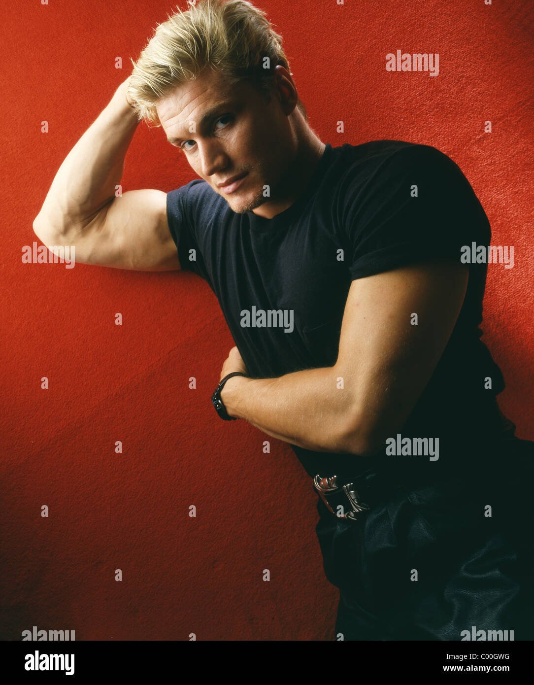 Tough guy actor and martial arts expert Dolph Lundgren - Stock Image
