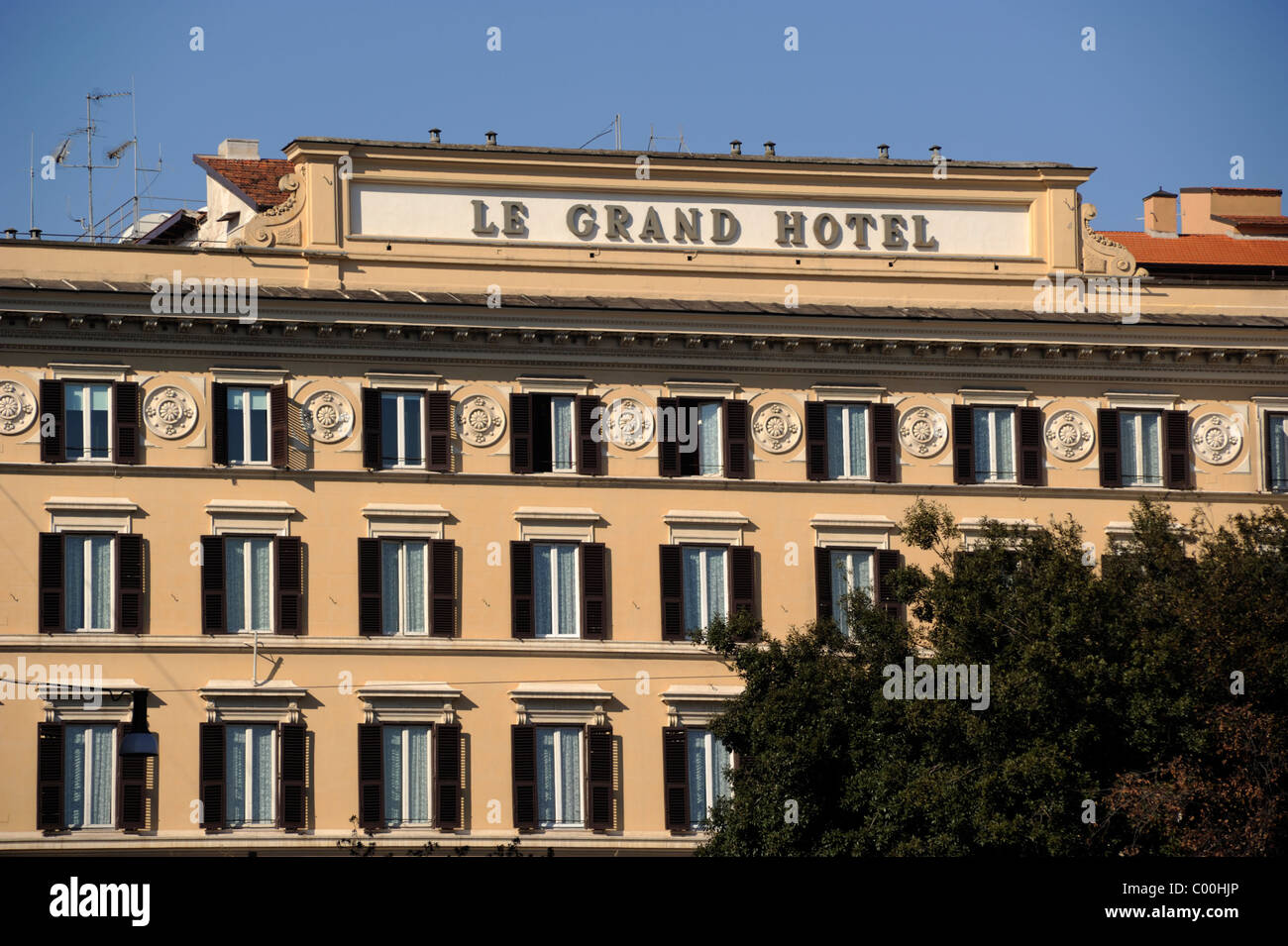 italy, rome, st regis grand hotel - Stock Image