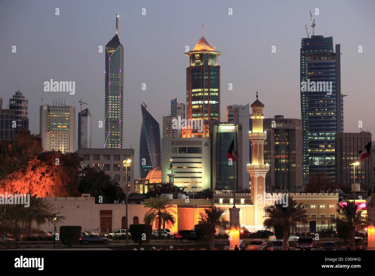 Kuwait, Kuwait City, skyline, skyscrapers, - Stock Image