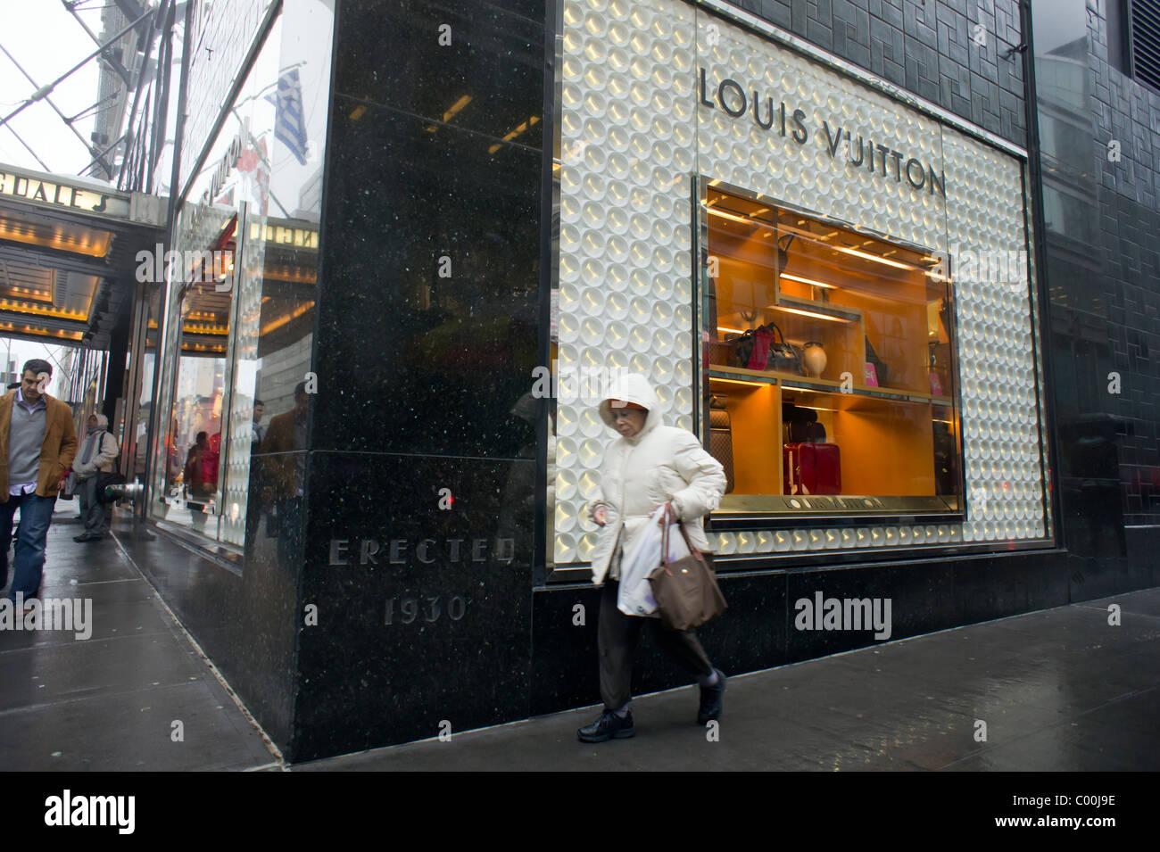 6ab540f3b708 Bloomingdale s department store promotes Louis Vuitton merchandise - Stock  Image