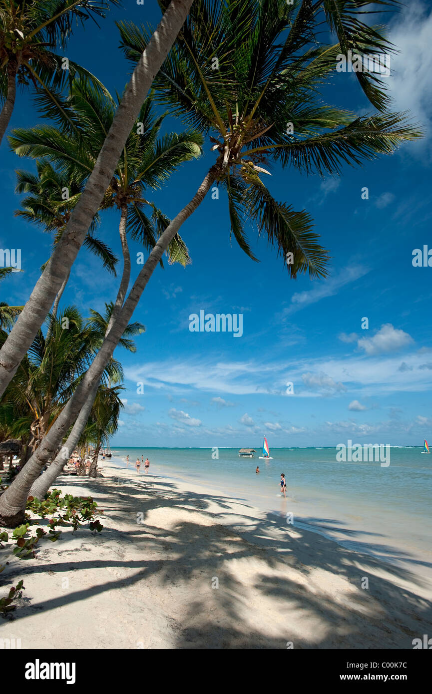 Bavaro Beach, Dominican Republic - Stock Image