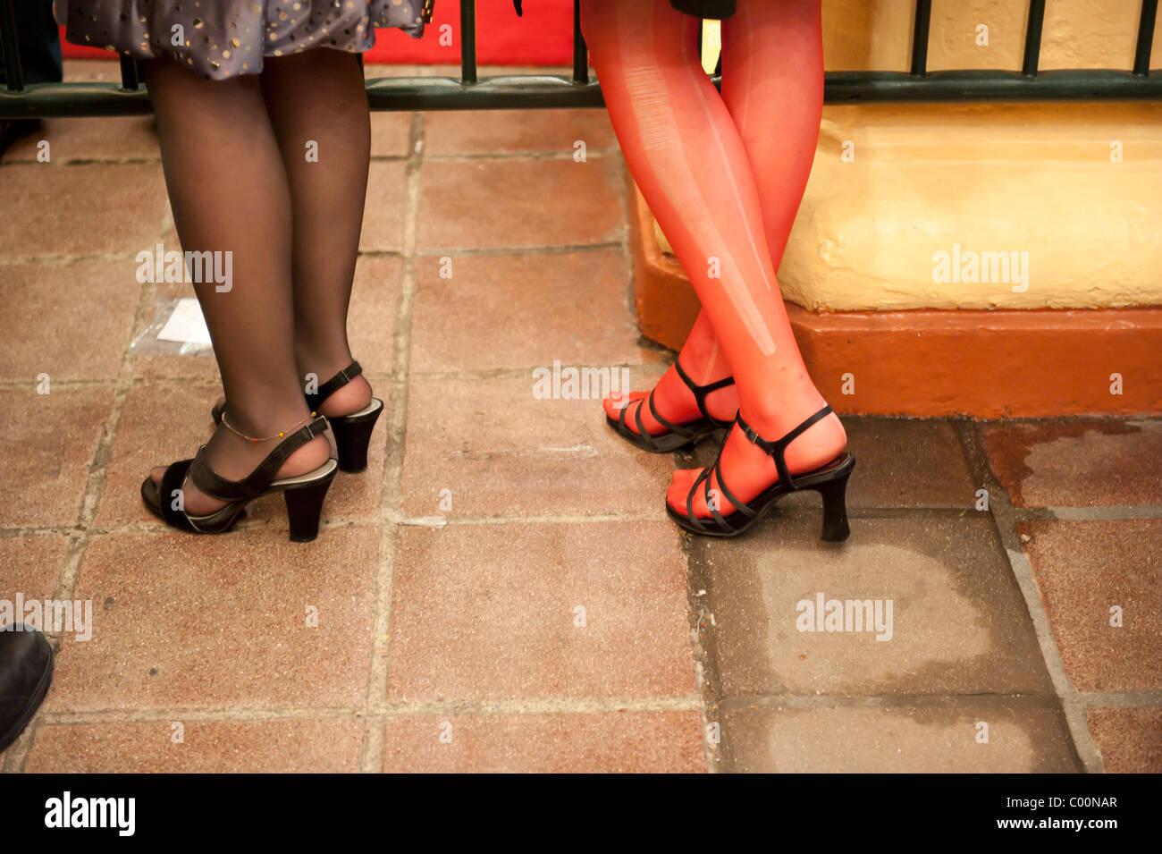 Stockings Run High Resolution Stock