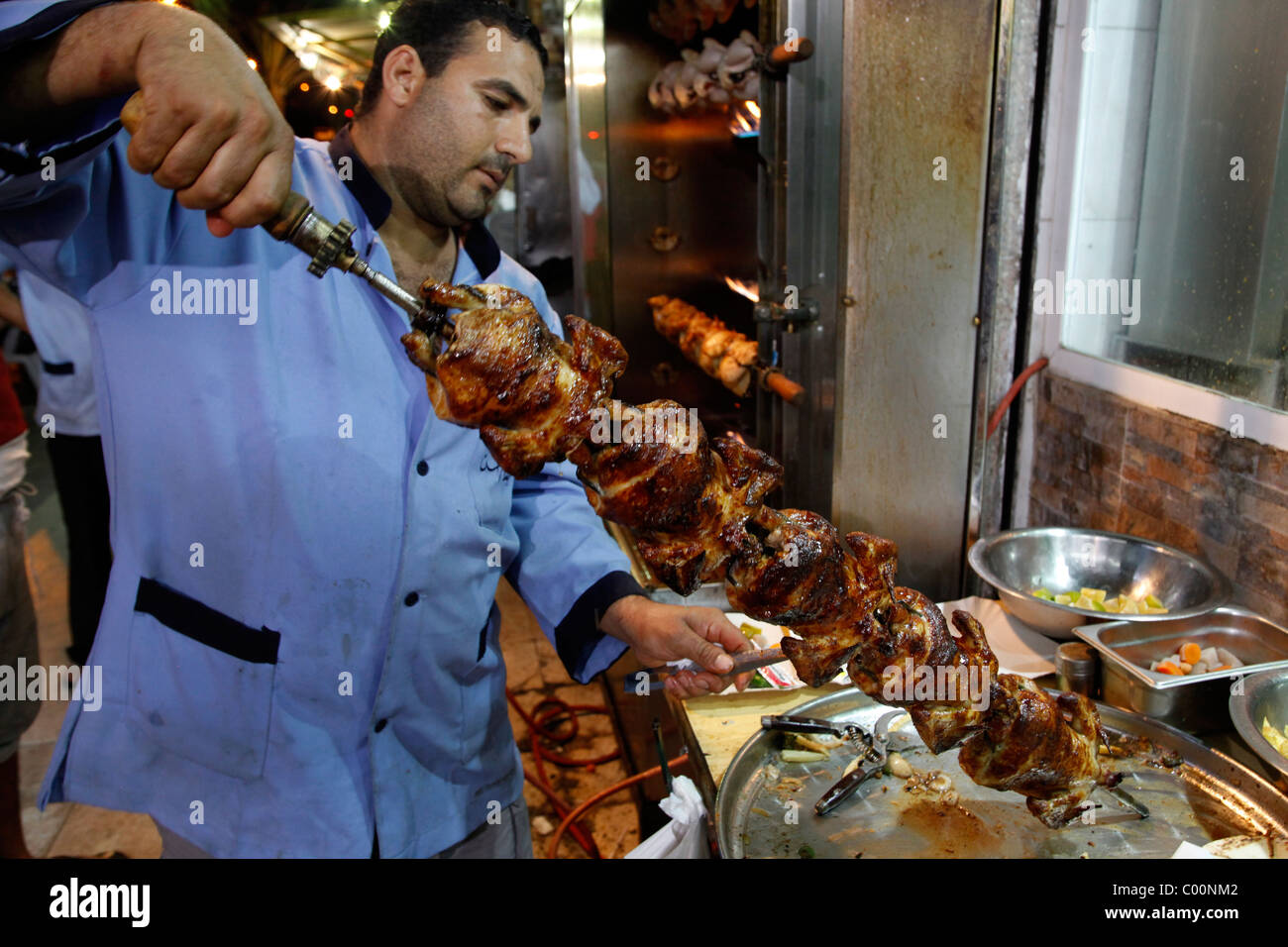 Grilled chicken restaurant, Aqaba, Jordan. - Stock Image