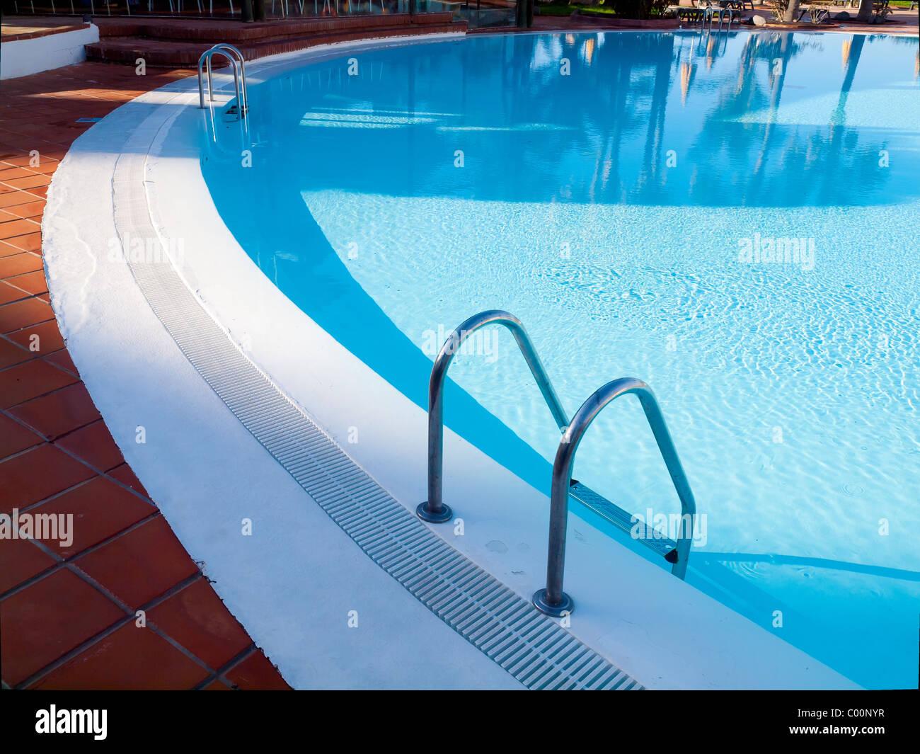 Hotel timanfaya palace playa blanca stock photos hotel - How to make swimming pool water blue ...