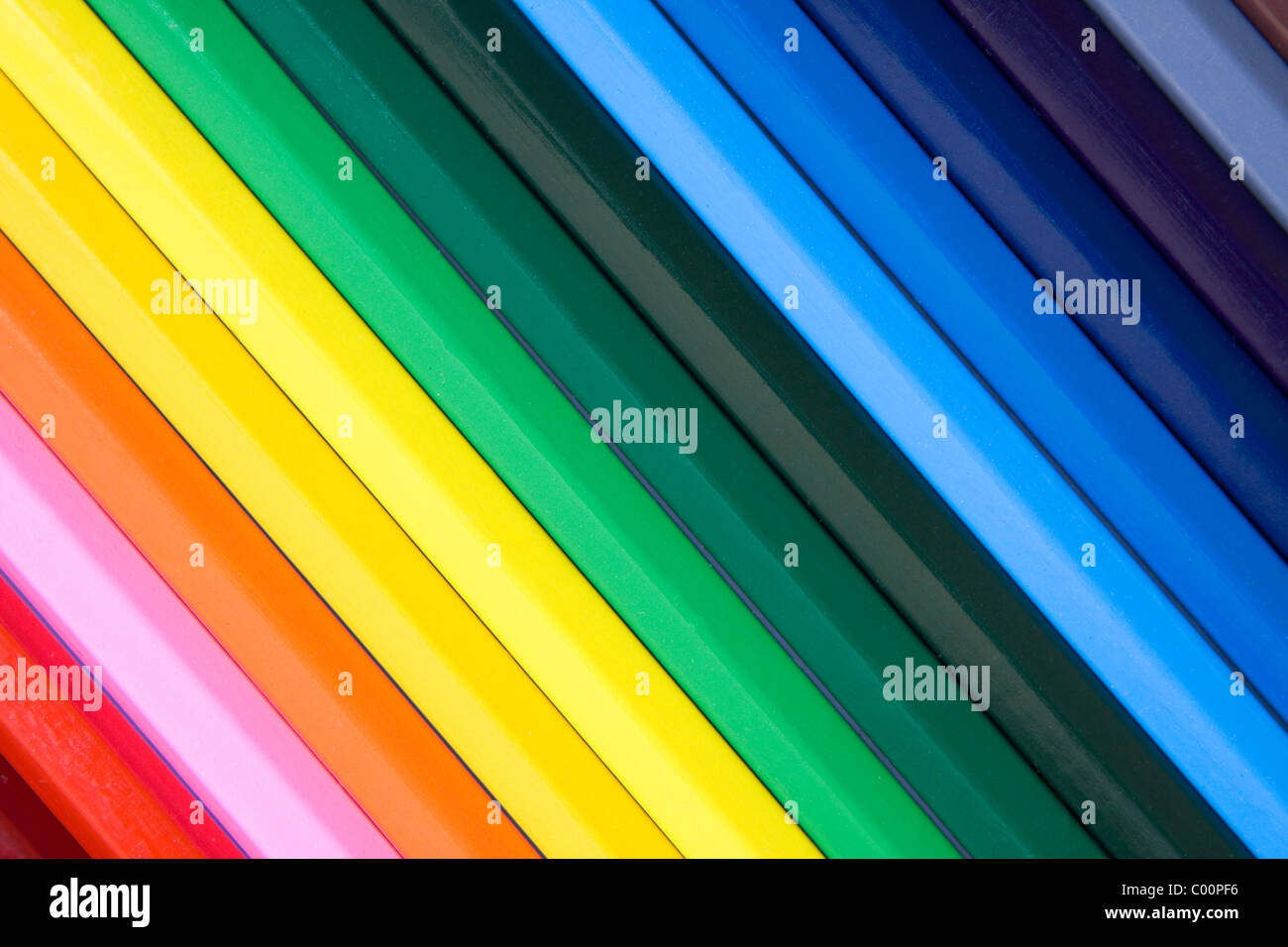 Colored Pencils Background - Stock Image