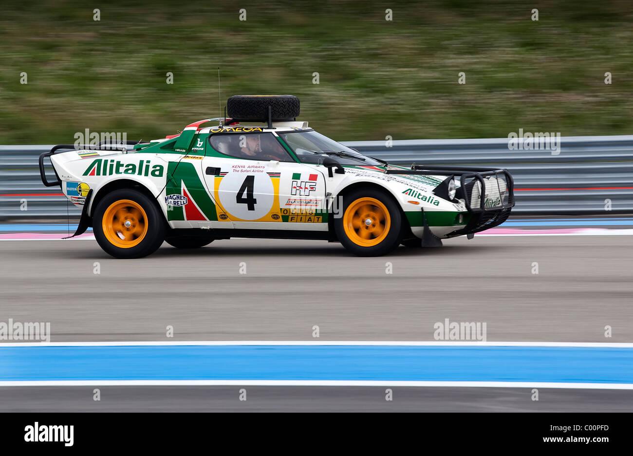 Lancia Stratos East African Safari Rally Car - Stock Image