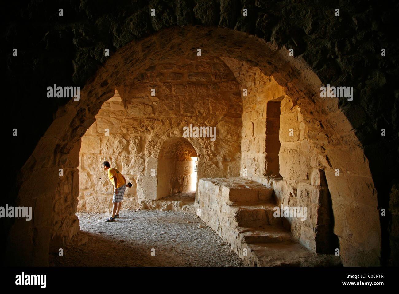 Karak castle, Karak, Jordan. Stock Photo