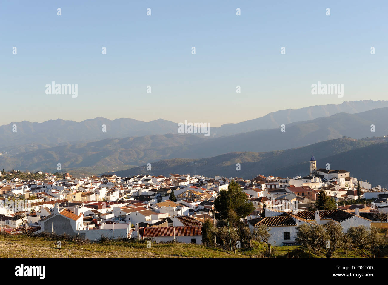 White village of Yunquera, Malaga Province Andalucia Spain - Stock Image