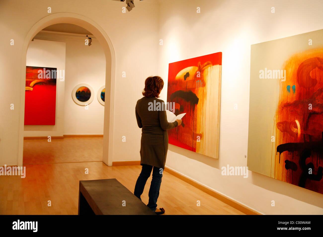 Nabal Art gallery in the posh neighrbourhood of Jabal Amman, Amman, Jordan. - Stock Image